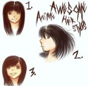 awesome anime hairstyles