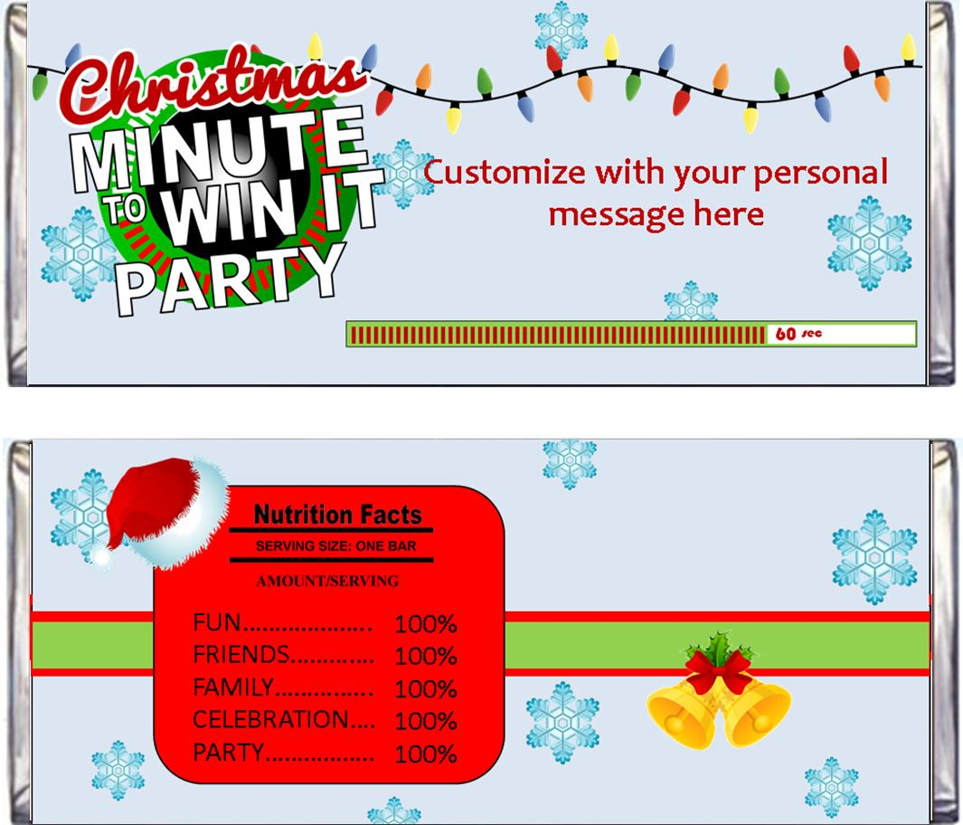 Christmas Minute To Win It Party Supplies And Ideas