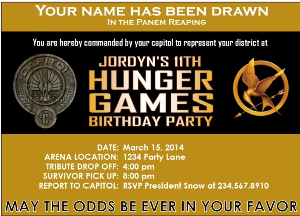 Hunger Games Party Supplies