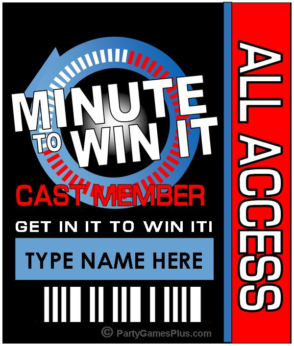 It is a photo of Minute to Win It Blueprints Printable in easy