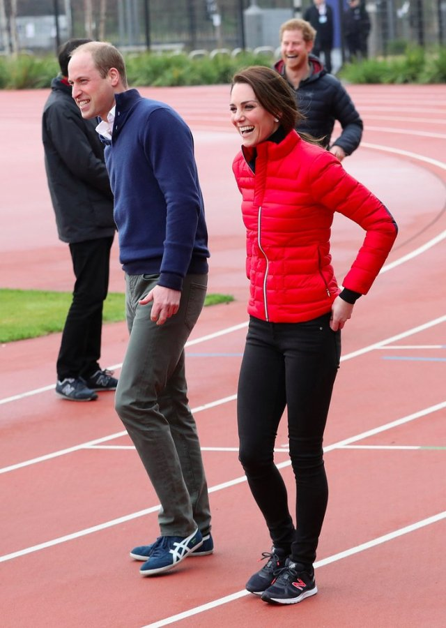 Kate Middleton Red Coat Heads Together Training 2017