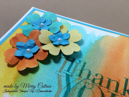 handmade card by Merry Catron close up