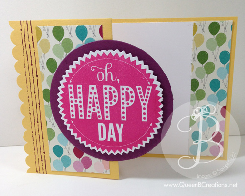 z fold birthday card
