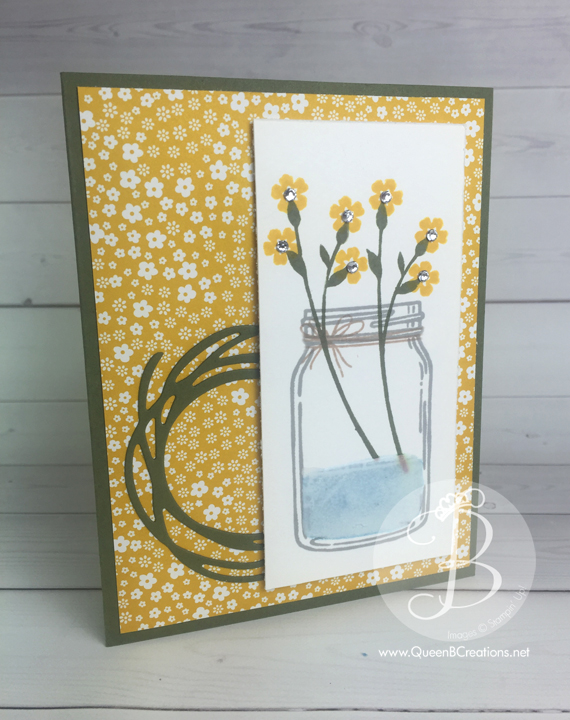 PPA304 by Lisa Ann Bernard of Queen B Creations using the Jars of Love stamp set and the swirly bird framelit dies