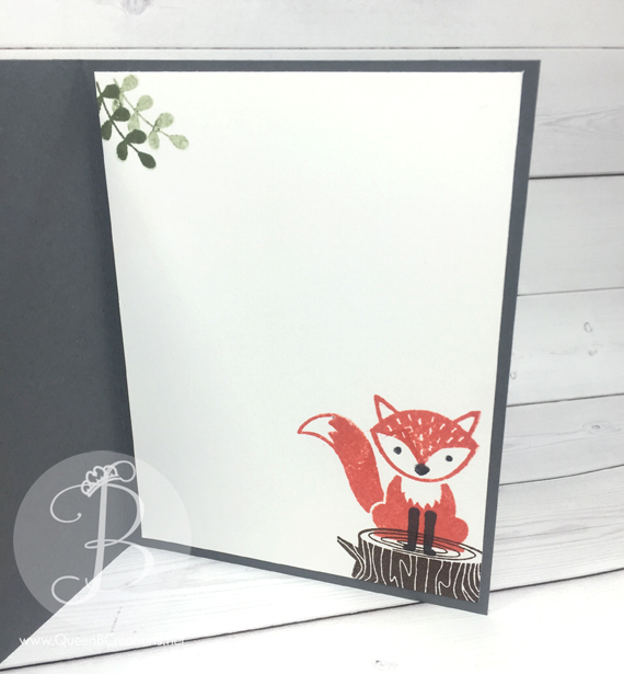 ppa306-inside Stampin' Up! Foxy Friends stamp set and A Little Foxy DSP Spotlight Technique by Queen B Creations