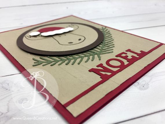 Stampin' Up! Christmas Moose Noel card
