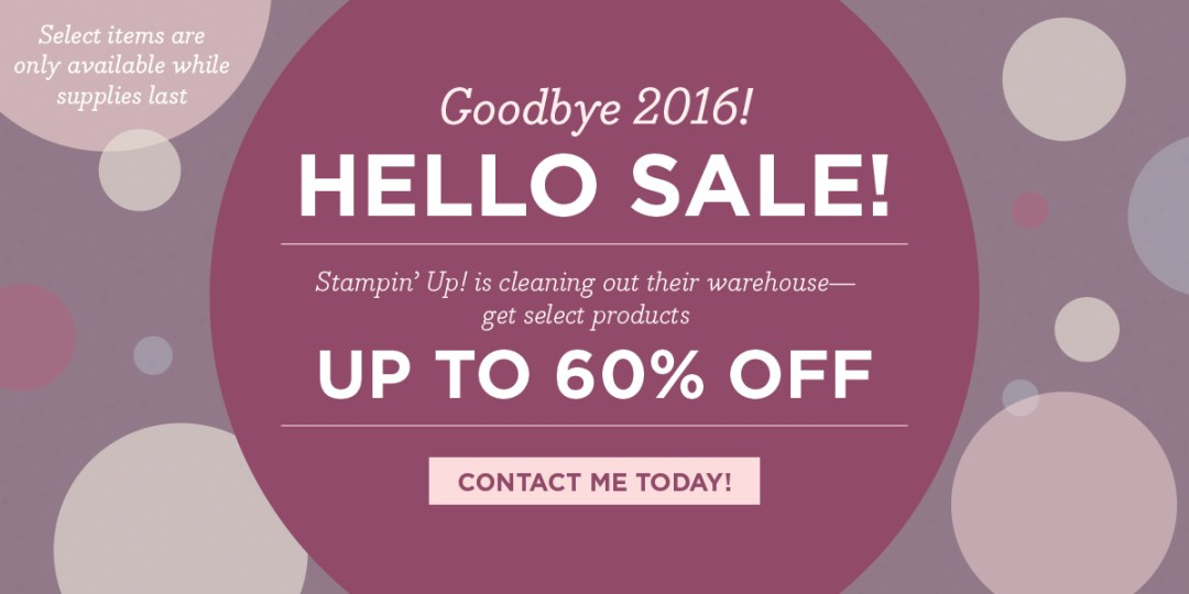 Stampin' Up! year end close out sale