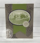 Stampin' Up! Tuscan Vineyard handmade card by Queen B Creations