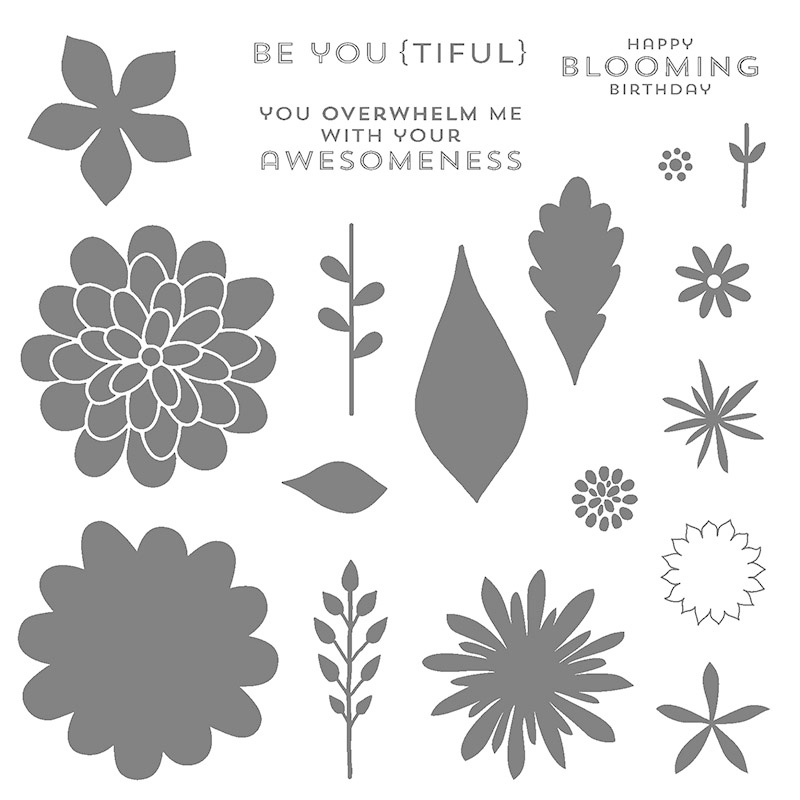 Stampin' Up! flower patch stamp set_photopolymer layout