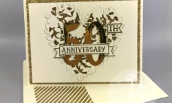 Stampin' Up! Bloomin' Love & Number of Years make a beautiful 50th Anniversary / Golden Anniversary card by Queen B Creations