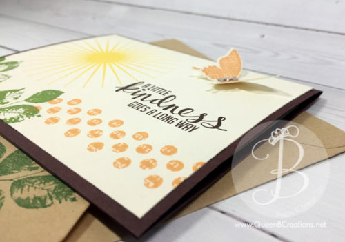 Stampin' Up! Kinda Eclectic hand stamped card for global stamping friends blog hop by Queen B Creations