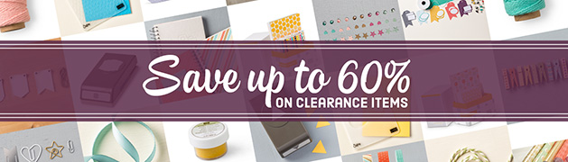 clearance rack update  Get up to 60% off on Stampin' Up! items