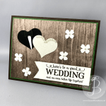 Rustic Wedding day card made using Stampin