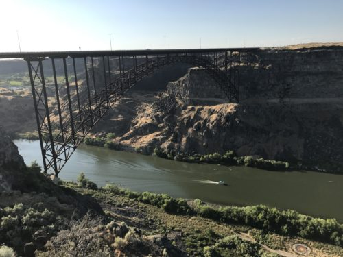 Perrine Memorial Bridge over the snake river in Twin Falls, ID