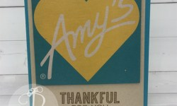 handmade card made using the boxes from Amy's Fast Food restaurant Recycle Stampin' Up!