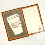 Hello Fall Pumpkin Spice Gift Card Holder made with Stampin