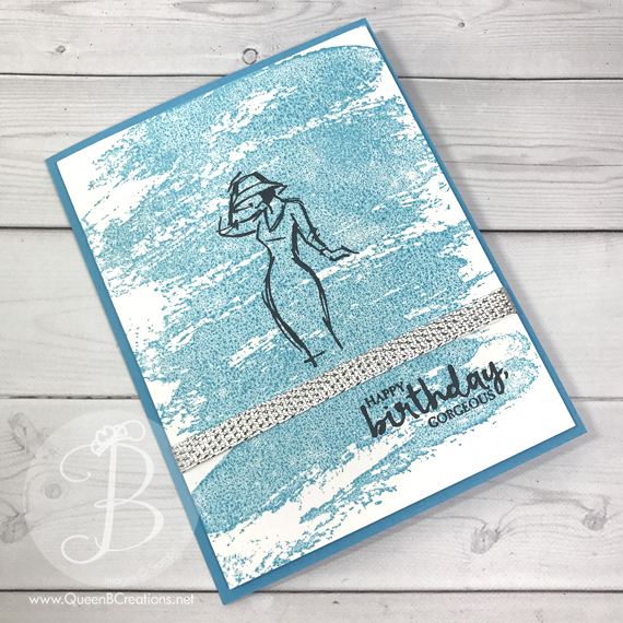 stampin up beautiful you on a watercolor wash background by queen b creations