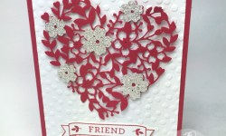 Stampin' Up! Bloomin' Love Bloomin' Heart Valentines Day card for a friend by Lisa Ann Bernard of Queen B Creations