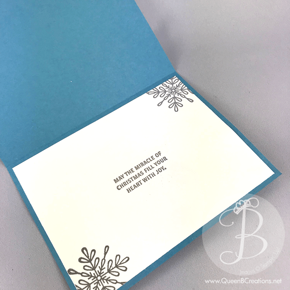 Stampin' Up! Swirly Snowflakes with Snowflake Sentiments handmade Christmas card by Lisa Ann Bernard of Queen B Creations