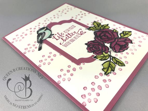 Stampin' Up! Petal Palette Thank You Roses handmade card by Lisa Ann Bernard of Queen B Creations