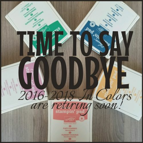 retiring 2016-2018 in colors from Stampin' Up!