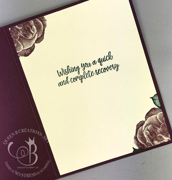 Stampin' Up! Healing Hugs Tranquil Textures handmade gift bag and get well card by Lisa Ann Bernard of Queen B Creations