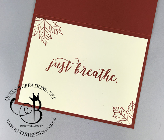 Stampin' Up! colorful seasons tarnished foil heat embossing technique. Card by Lisa Ann Bernard of Queen B Creations.