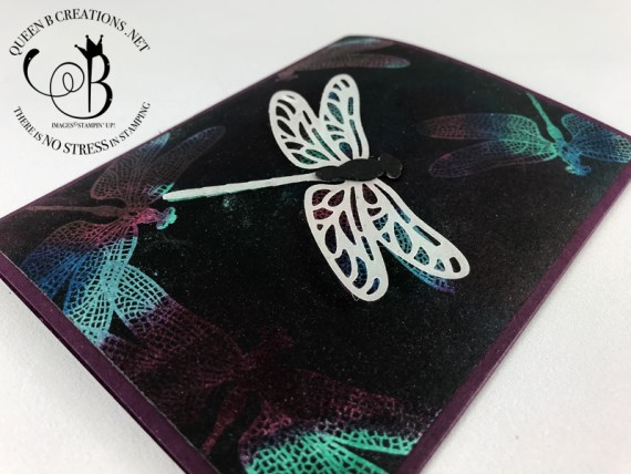 Stampin' Up! Dragonfly Dream Josephs Coat heat embossing technique by Lisa Ann Bernard of Queen B Creations