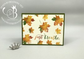 Fall Leaves Colorful Seasons – Baby Wipe Technique