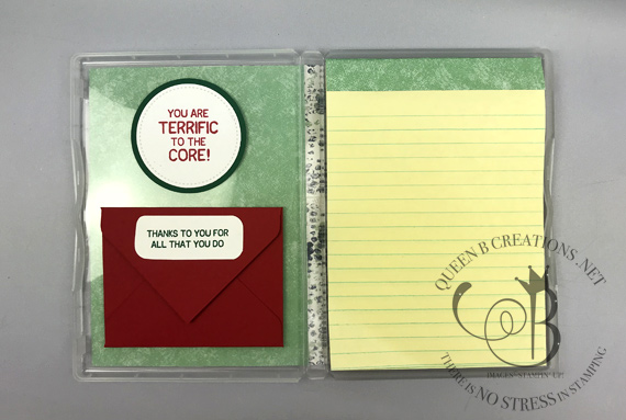 Stampin' Up! picked for you teacher gift notepad in clear case made by Lisa Ann Bernard of Queen B Creations