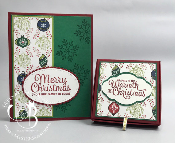 Stampin' Up! Snowflake Sentiments handmade tealight box and card by Lisa Ann Bernard of Queen B Creations