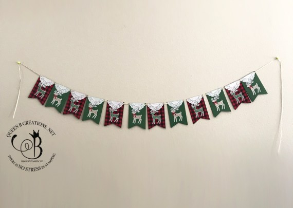 Stampin' Up! Dashing Deer Banner by Lisa Ann Bernard of Queen B Creations