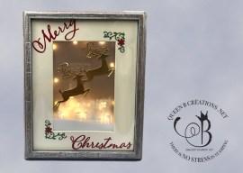 Dashing Deer Framed Christmas Art