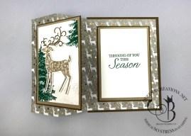 Dashing Deer Fancy Fold Card