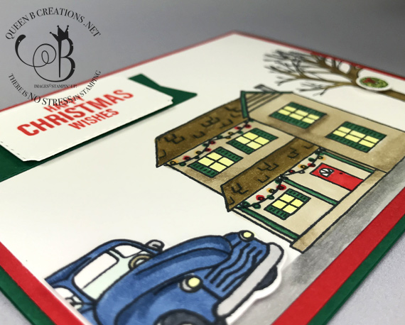 Stampin' Up! Farmhouse Christmas handmade Christmas card by Lisa Ann Bernard of Queen B Creations