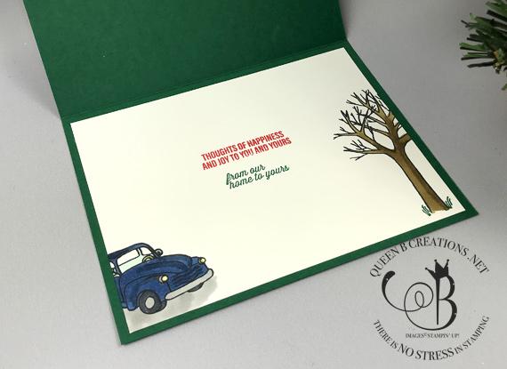 Stampin' Up! Farmhouse Christmas handmade Christmas card by Lisa Ann Bernard of Queen B Creations