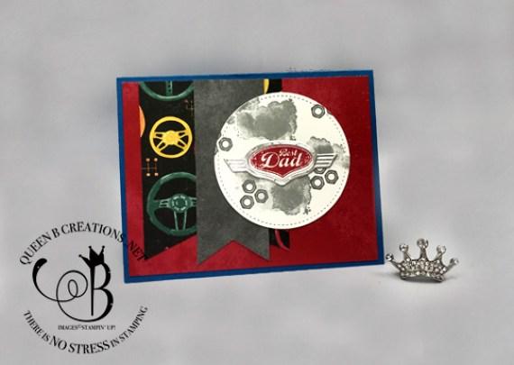 Stampin' Up! Geared Up Garage Best Dad handmade card made by Lisa Ann Bernard of Queen B Creations