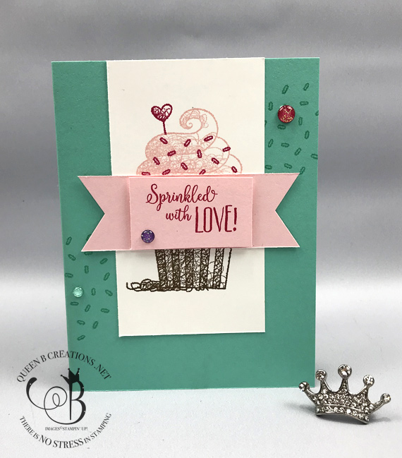 Stampin' Up! Hello Cupcake sweet wishes handmade birthday card made by Lisa Ann Bernared of Queen B Creations