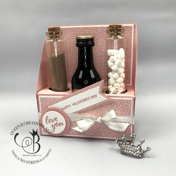 Stampin' Up! Valentines Hot Chocolate Boozy Box By Lisa Ann Bernard of Queen B Creations