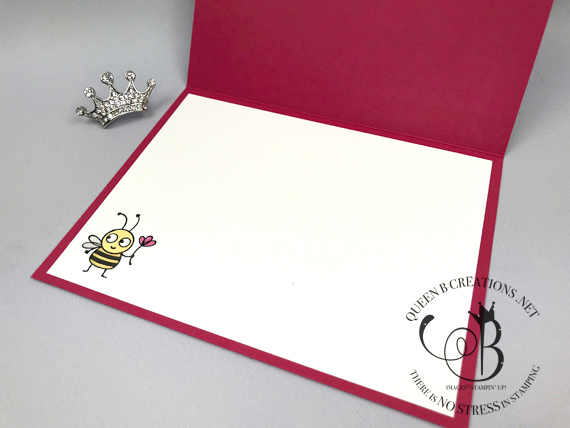 Stampin' Up! Bee Thankful handmade card Ombre' Technique using the Stampin' Blends alcohol markers made by Lisa Ann Bernard of Queen B Creations (Video included in post)
