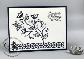 Flourishing Phrases Sympathy Card