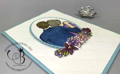 Stampin' Up! To Have and To Hold Tufted Embossing Layering Ovals handmade wedding or anniversary card by Lisa Ann Bernard of Queen B Creations