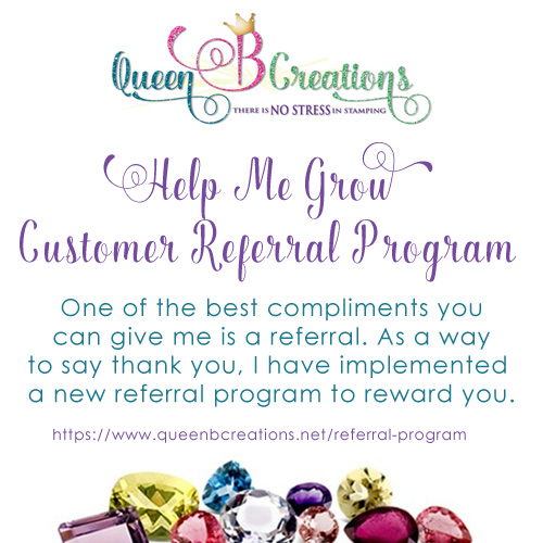 Help me grow referral program for Queen B Creations.