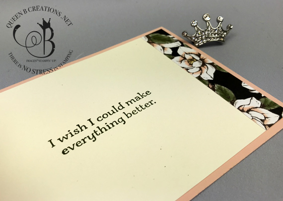 Stampin' Up! Good Morning Magnolia and Sorry for Everything handmade z-fold sympathy card by Lisa Ann Bernard of Queen B Creations