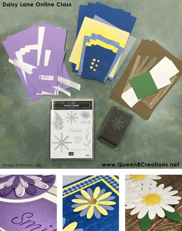 Stampin' Up! Daisy Lane Online Class by Lisa Ann Bernard of Queen B Creations