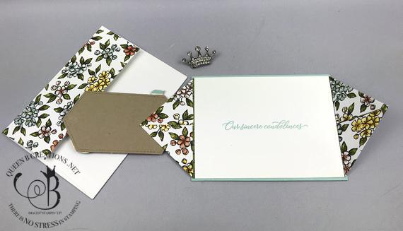 Stampin' Up! Free As A Bird bundle Bird Ballad DSP double point fold handmade card by Lisa Ann Bernard of Queen B Creations