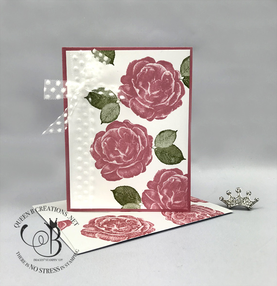 STampin' Up! Healing Hugs Rococo Rose handmade get well card by Lisa Ann Bernard of Queen B Creations