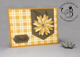 How to Stamp Buffalo Plaid Background