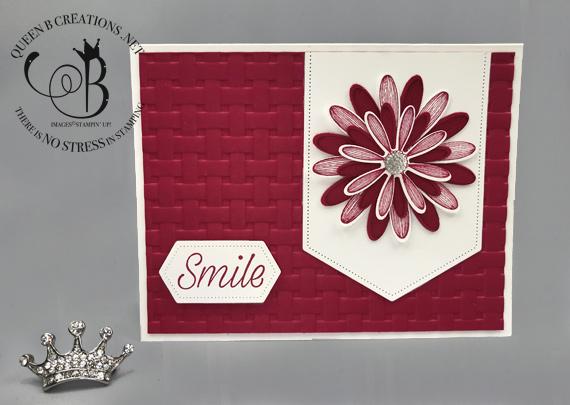 Stampin' Up! Daisy Lane Lovely Lipstick handmade smile card by Lisa Ann Bernard of Queen B Creations