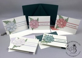 Daisy Lane Gingham Note Cards in Holder